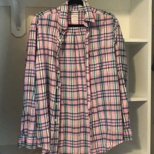 Brooks Brothers Pink Plaid Button Down